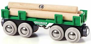 Brio-LUMBER-LOADING-WAGON-Train-Set-Accessory-Wooden-Toy-Gift-Baby-Child-BN