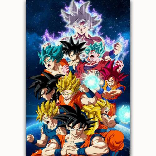 D-169 Goku Super All Forms Dragon Japan Anime Poster Art Silk 21 24x36inch
