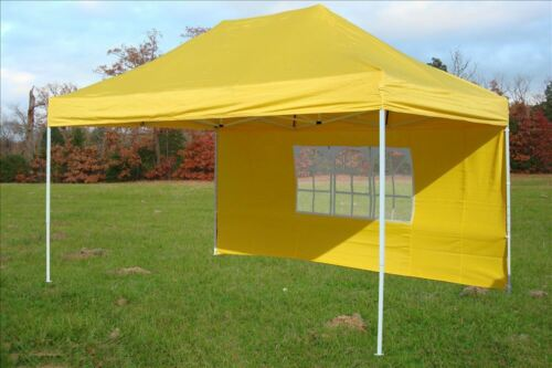 Yellow E Model 10/' x 15/' Pop Up Canopy Party Tent Gazebo EZ