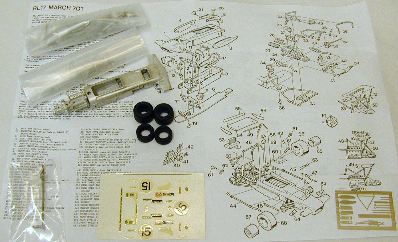 1 43 RL17K MARCH 701 KIT Chris Amon KIT BY SMTS