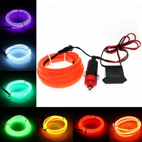 DC12V Car Party Interior EL Wire Neon Glow Decorative Light Strip 1m/2m/3m/4m/5m