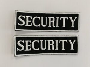 Security Badge Embroidered Iron On Sew On PatchBadge For Clothes etc