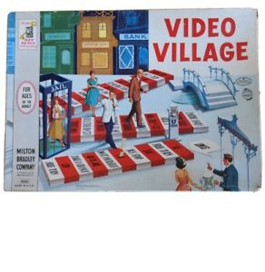 Vintage 1962 Milton Bradley VIDEO VILLAGE Board Game COMPLETE