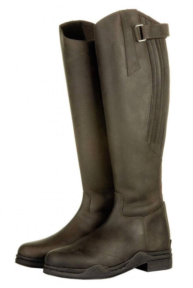 Leder Reitstiefel Country Standardlänge -weite braun oder schwarz schwarz schwarz HKM NEU a0ebd9