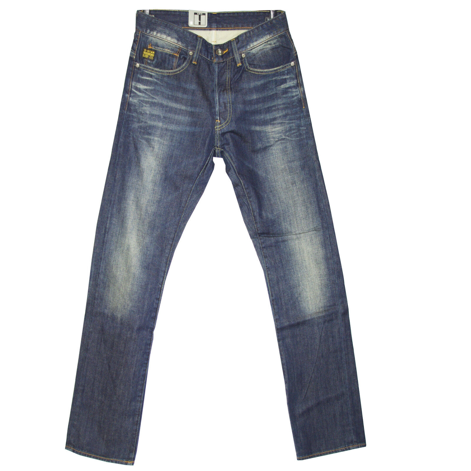 G-STAR RAW tapeRouge jeans slim YELD SLIM DARK AGED tapeRouge RAW  bleu homme 1e6612
