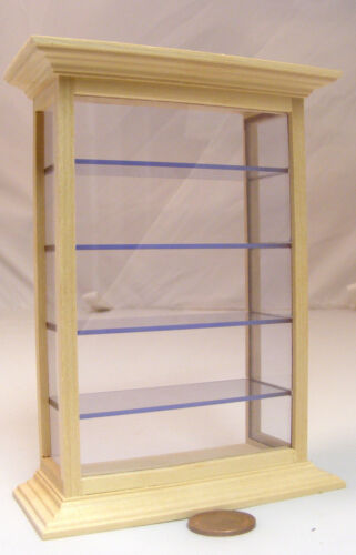 1:12 Scale Natural Finish Shop Counter Display Cabinet Tumdee Dolls House 134