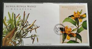 2001-Malaysia-Scented-Flowers-Bunga-Wangi-MS-FDC-Kuala-Lumpur-Cachet-Lot-C