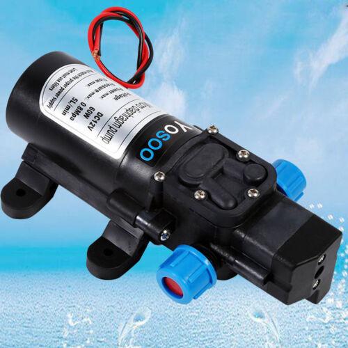 12V, 5L/Min 120 PSI haute pression diaphragme amoricage d'eau pompe caravane