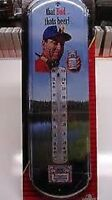 budweiser Nostalgic Tin Thermometer By River's Edge That Bud... That's Beer