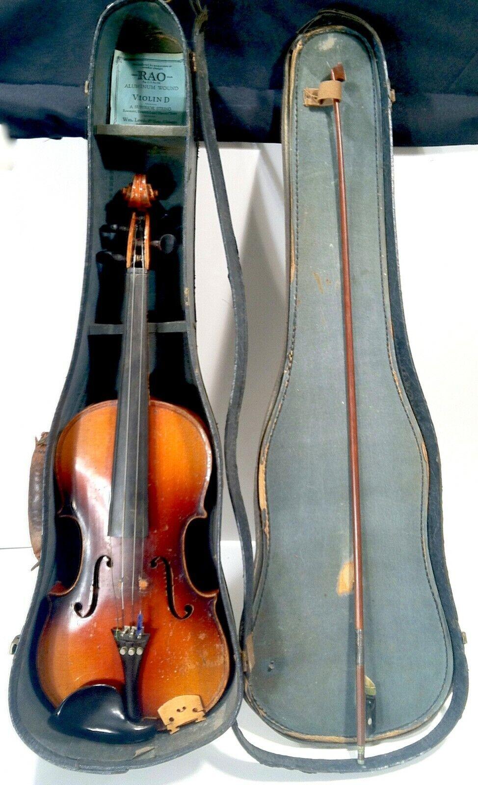 Antique c.1900 Stradivarius Violin W  Bow & Case John E. Coughlin Lyon Healy