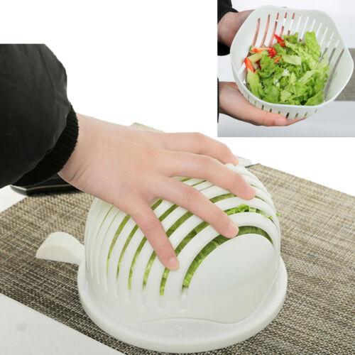 60 Second Fresh Salad Maker Cutter Bowl Slicer Vegetable Easy Washer Chopper