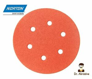 "125mm 150mm Sanding Discs 5/"" 6/"" inch Zirconia NORTON Pads TOP QUALITY Sandpaper"