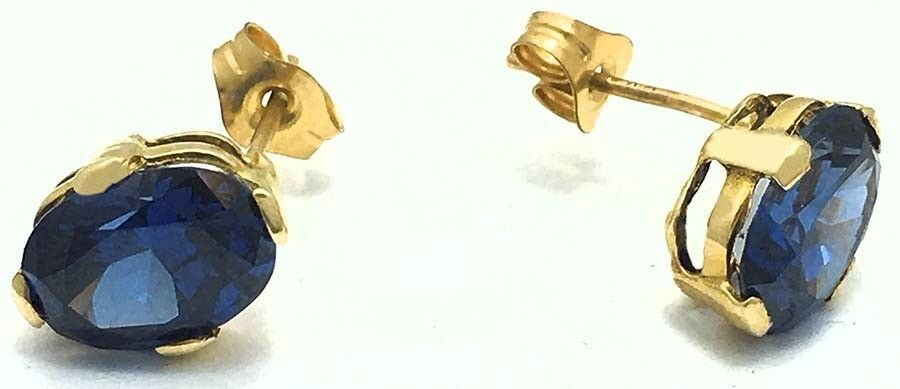 2.78 Carats TANZANITE 14k Yellow gold Earrings  FREE SHIPPING SERVICE