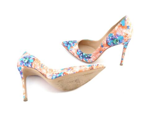 Gianvito Rossi X Mary Katrantzou Lisa Arancione Ponker ~ Uk 4.5/eu 37.5/us 7.5