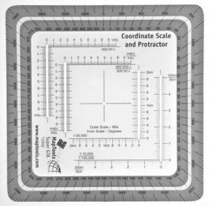 Maptools Improved Military Style COORDINATE Grid Reader and Protractor