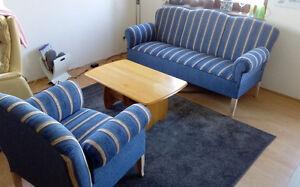 Details Zu Landhaus Ostfriesen Küchensofa 3 Sitzer Mit Sessel In Kornblumenblau