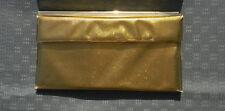 Vintage Gold Exterior Plastic  Purse Clutch Snap Button