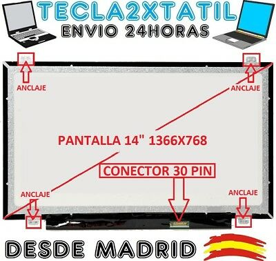 "N116B6-L02 Acer Aspire 18 LCD Display Pantalla Portatil 11.6/"" HD LED 40pin dww"