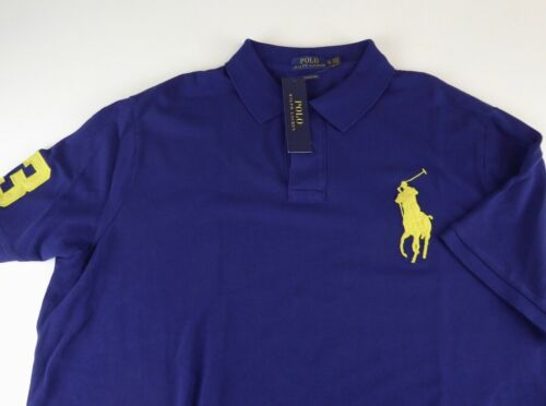 Polo Ralph Lauren Big Pony Classic Fit Polo Shirt NWT $98.50 Blue Burgundy Green
