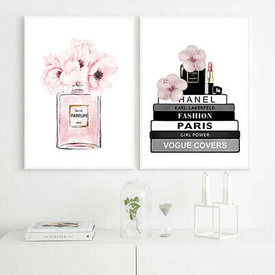 Fasion Girl Flower Wall Art Canvas Poster Motivational Quotes Print Nordic Style