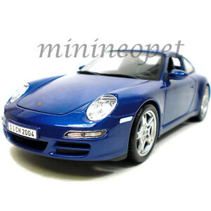 Maisto-31692-Porsche-911-997-Carrera-S-1-18-Diecast-Modelo-Coche-Azul