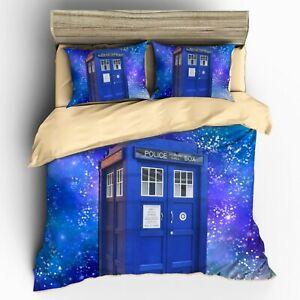 TARDIS 3D effect Bed Set 3D Doctor Who bedding set custom pattern Bedclothes
