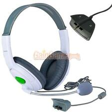 White Big Live Headphone Headset MIC Microphone for Xbox 360 Wireless Controller
