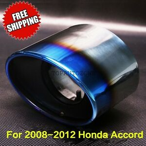 Fit Honda Accord 2008 2009 2010 2012 REAR MUFFLER TIP PIPE STEEL EXHAUST TAIL