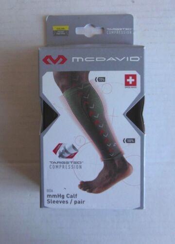 SMALL MCDAVID 8836 CALF SLEEVES, // BRIGHT YELLOW a-2 -CHARCOAL