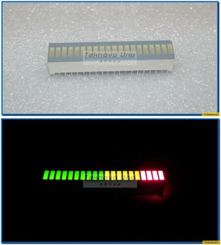 USA 2x Bargraph Tri-Color Fixed LED Array 20-Segs for Audio LED VU Meter