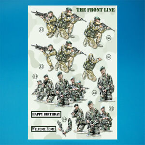 Army//Military Decoupage A4 Die Cut 3DSheet 051-724