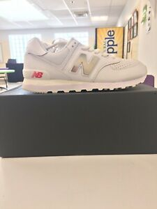 Details about New Balance 574 Metallic White Neo Flame #ML574SOX (Size 7.5).