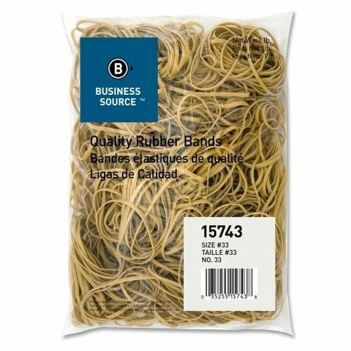 Bus Source Quality Rubber Bands-Rubber Bands,Size 33,1 Wholesale CASE of 25