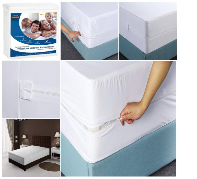 Waterproof Encasement Cover Mattress Bed Bug Protector Queen King Size