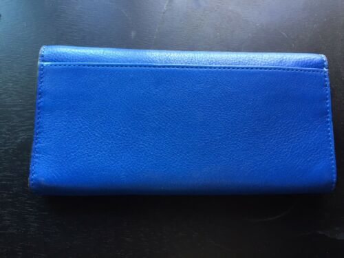 NWT Coach Madison Leather Slim Envelope Silver Cobalt F49595