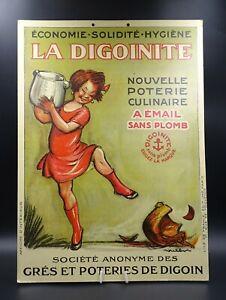 BELLE-PUBLICITE-ANCIENNE-LA-DIGOINITE-PORCELAINE-ART-DE-LA-TABLE-DECO-SUPERBE