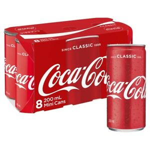 Coca-Cola-Classic-Coke-Mini-Multipack-Cans-200mL-8-pack