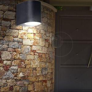 led au en wand strahler alu garagen spot einfahrt down leuchte 5 watt hof lampe ebay. Black Bedroom Furniture Sets. Home Design Ideas
