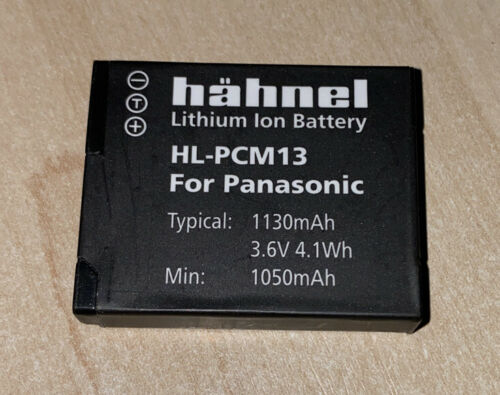 Hahnel HL-PCM13 Cámara Batería de Li-ion Recargable Reemplaza Panasonic DMW-BCM13