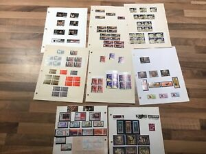 QE11-MALTA-POSTAGE-STAMPs-MINT-HINGED-8-leaves-z-lot-5