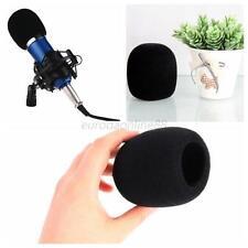 Handheld Microphone Mic Grill Windshield Wind Shield Sponge Foam Cover Black Hot