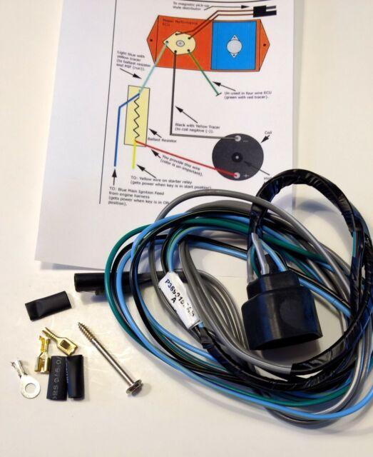 New Electronic Ignition Wiring Harness NOS Mopar Chrysler Orange Chrome Box ECU