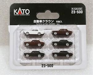 Kato-N-23500-Toyota-Crown-Automobiles-6pcs-New