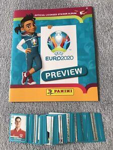 Panini-EM-2020-EURO-2020-Preview-Leeres-Album-300-Verschiedene-Sticker