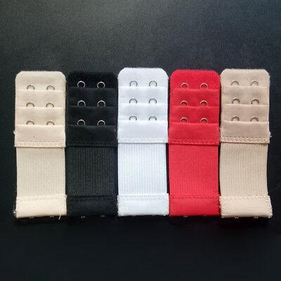 5//10x Adjust Brassiere Strap Bra Buckle Extender Extension Underwear 2//3//4 Hooks