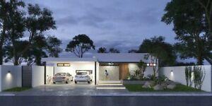 Pre -Venta residencia  una planta 3 recámaras privada norte Mérida