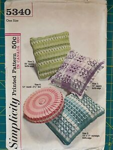 Vintage-1960s-Mid-Century-Pillow-Sewing-Pattern-Simplicity-5340