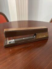 New Listingclassic Swingline 767 Vintage Faux Wood Brown Metal Stapler Usa Mid Century