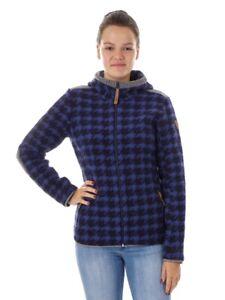 CMP-Functional-Jacket-Woollen-Cardigan-Fleece-Jacket-BLAU-Wooltech-Pattern-Warm