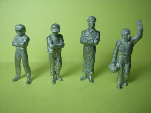 4  FIGURINES  1//43   SET 159   HILL  ET  CAMPBELL   VROOM  1//43  A  PEINDRE